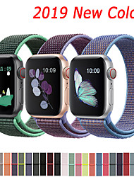 cheap -Nylon Strap For Apple Watch band 44mm 40mm 42mm 38mm Sport Loop Belt Bracelet For Apple Watch Series 5/4/3/2/1 Accessories
