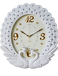 cheap -Wall Clock,Modern Contemporary Wall Hanging Glasses Plastic & Metal Acrylic Round Indoor