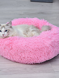 cheap -Dogs Rabbits Cats Bed Beds Mats & Pads Plush Solid Colored Brown Light Pink White