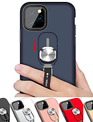 cheap -Magnetic Ring Stand Phone Case For iphone 11 Pro / iphone 11 / iphone 11 Pro Max Shockproof Armor Back Cover Case For iphone XS Max XR XS X 8 Plus 8 7 Plus 7 6 Plus 6 Silicone Soft TPU Edge