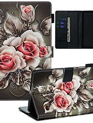 Недорогие -чехол для huawei mediapad m3 lite 8 / mediapad m5 8 кошелек / визитница / флип чехлы для тела цветок искусственная кожа / тпу