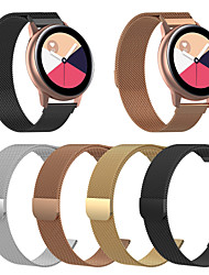 abordables -bracelet de montre pour samsung galaxy montre active2 40 / 44mm samsung galaxy / motorola milanese boucle bracelet en acier inoxydable