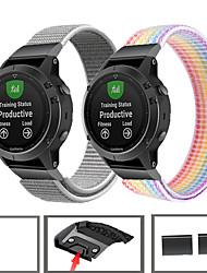 abordables -bracelet en nylon sport pour bracelet de montre garmin fenix 6 pro / fenix 5 plus / ancien 935 / approche s60 / quatix 5 bracelet à dégagement rapide