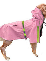 cheap -Dog Hoodie Rain Coat Solid Colored Waterproof Windproof Outdoor Dog Clothes Red Blue Pink Costume Large Dog Nylon S M L XL XXL XXXL