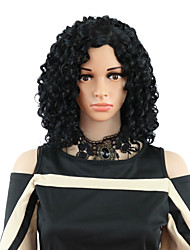 cheap -Synthetic Wig Curly Free Part Wig Short Black#1B Dark Wine Synthetic Hair 12 inch Women's Odor Free Adjustable Heat Resistant Black Brown