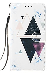 cheap -Case For Apple iPhone 11 / iPhone 11 Pro / iPhone 11 Pro Max Wallet / Card Holder / Flip Full Body Cases Marble PU Leather