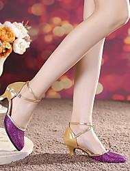 cheap -Women's Modern Shoes Ballroom Shoes Heel Cuban Heel Black Purple Blue