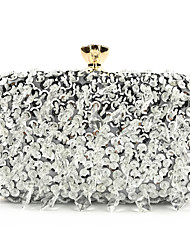 cheap -Women's Sequin / Chain Polyester / Silk Evening Bag Solid Color Silver