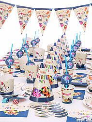 cheap -Baby Shower Birthday Party Zoo Theme Party Decoration Supplies Unicorn Paper Cup Plate Tableware Supplies