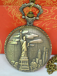 cheap -Men's Pocket Watch Quartz Vintage Style Bronze New Design Casual Watch Cool Analog - Digital Vintage - Bronze