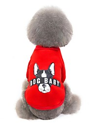 cheap -Dog Sweater Sweatshirt Puppy Clothes Animal Winter Dog Clothes Puppy Clothes Dog Outfits Warm Yellow Red Pink Costume for Girl and Boy Dog Polyster S M L XL XXL