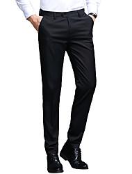 cheap -Men's Basic / Street chic Suits / Chinos Pants - Solid Colored Black / Blue, Classic Black Blue Gray US32 / UK32 / EU40 US34 / UK34 / EU42 US38 / UK38 / EU46