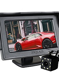 cheap -ZIQIAO Car 8 LED Lights Reversing Rear View Camera with 4.3 inch Screen Display