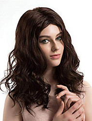 cheap -Synthetic Lace Front Wig Wavy Middle Part Lace Front Wig Medium Length Medium Brown Synthetic Hair 14-18 inch Women's Adjustable Heat Resistant Party Brown