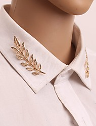 cheap -Women's Brooches Classic Leaf Elegant Vintage Brooch Jewelry Gold Silver For Daily / 2pcs