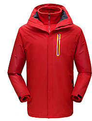 cheap -Men's Hiking Jacket Winter Outdoor Waterproof Windproof Warm Comfortable Jacket Top Climbing Camping / Hiking / Caving Traveling Black / Orange / Navy Blue / Royal Blue / Red
