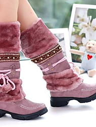 cheap -Women's Boots Flat Heel Round Toe Cotton Mid-Calf Boots Winter Purple / Brown / Black