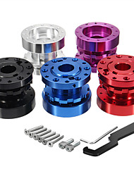 cheap -6 Bolts Universal Adjustable Racing Steering Wheel Hub Adapter Extender - Purple