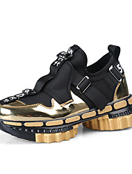 cheap -Men's Comfort Shoes PU Spring / Fall & Winter Sporty / Casual Sneakers Running Shoes / Fitness & Cross Training Shoes Non-slipping Black / Red / Gold