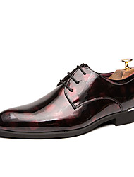 cheap -Men's Formal Shoes Microfiber Spring & Summer / Fall & Winter Business / Casual Oxfords Breathable Black / Green / Red