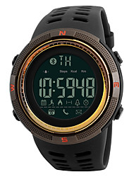 cheap -Men's Sport Watch Digital Watch Digital Casual Water Resistant / Waterproof Digital Black Gold Coffee / One Year / Silicone / Calendar / date / day / Large Dial