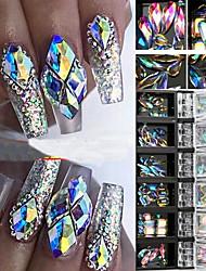 abordables -3d ab diamant gemmes ongles paillettes strass cristal verre nail art décor 12 boîtes