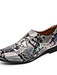 cheap -Men's Formal Shoes Microfiber Spring & Summer / Fall & Winter Business / Casual Oxfords Breathable Purple / Gold / Silver / Dress Shoes