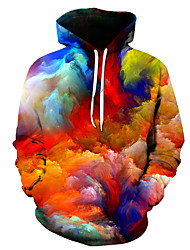 cheap -Men's Hoodie 3D Hooded Casual / Basic Rainbow US32 / UK32 / EU40 US34 / UK34 / EU42 US36 / UK36 / EU44 US38 / UK38 / EU46 US40 / UK40 / EU48