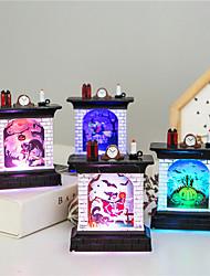 Недорогие -1 шт. Хэллоуин тыква ведьма catus скелет картины дымоход в форме украшения свет красочные кнопки с питанием от батареи новый дизайн творческий украшения