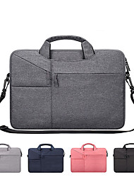 cheap -13.3 Inch Laptop / 14 Inch Laptop / 15.6 Inch Laptop Shoulder Messenger Bag / Briefcase Handbags Canvas Solid Color Unisex Water Proof Shock Proof