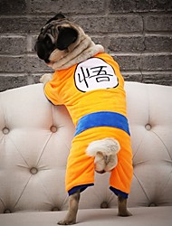 cheap -Dogs Coat Winter Dog Clothes Yellow Costume Baby Small Dog Polyster Cartoon Halloween S M XL