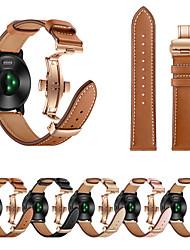 cheap -Watch Band For Garmin Vivoactive 3 Rose Gold Butterfly Buckle Fashion Genuine Leather Strap Bracelet Belt