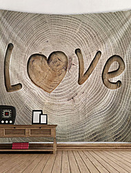 cheap -Valentine's Day Wall Tapestry Art Decor Blanket Curtain Hanging Home Bedroom Living Room Decoration Annual Ring Love