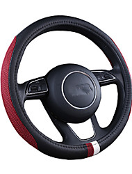 cheap -New non-slip car cover four seasons universal wear-resistant leather O-type breathable car steering wheel cover