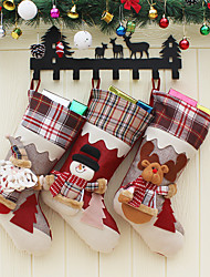 cheap -Christmas Stockings Cloth Ornaments Pendants Small Boots Hanging Pattern Christmas Print Party Home Decoration Supplies Gift Bag