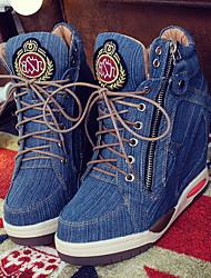cheap -Women's / Unisex Sneakers Flat Heel Round Toe Denim Summer Blue