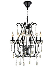 cheap -1-Light QINGMING® 53 cm (21 inch) Crystal Chandelier Candle-style Electroplated Traditional / Classic 110-120V / 220-240V