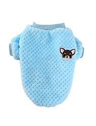 cheap -Dog Shirt / T-Shirt Dog Clothes Dark Brown Blue Pink Costume Cotton XS S M L