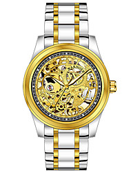cheap -Men's Mechanical Watch Automatic self-winding Formal Style Stylish Stainless Steel Silver / Gold 30 m Hollow Engraving Analog Luxury Fashion - Golden Gold / Silver / Black Silver / Black