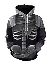 cheap -Skeleton / Skull Cosplay Costume Adults' Men's Stylish Halloween Halloween Festival / Holiday Spandex Fabric Polyster Black Men's Carnival Costumes / Top
