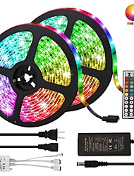 cheap -KWB Led Strip Lights Kit Non-waterproof SMD 5050 10mm 32.8 Ft (10M) 300leds RGB with 44key IR Controller and Power Supply