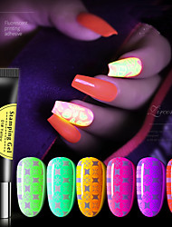 cheap -1pcs 8ml Nail noctilucent nail polish glue web celebrity inferior smooth color fluorescent printing