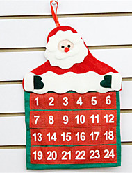 cheap -Holiday Decorations Christmas Decorations Christmas / Christmas Ornaments Calendar / date / day / Party Red 1pc