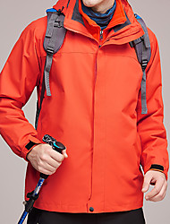 cheap -Men's Hiking 3-in-1 Jackets Hiking Jacket Winter Outdoor Waterproof Windproof Warm Soft Jacket Top Ski / Snowboard Camping / Hiking / Caving Traveling Black / Orange / Red / Blue