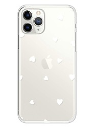 abordables -Coque Pour Apple iPhone 11 / iPhone 11 Pro / iPhone 11 Pro Max Ultrafine / Transparente / Motif Coque Cœur TPU