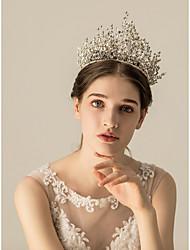 cheap -Rhinestone / Alloy Tiaras / Headdress with Crystal / Rhinestone / Metal 1pc Wedding / Party / Evening Headpiece