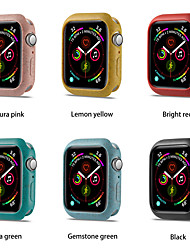 cheap -Watch TPU Frame Protective Case For Apple Watch Band 44mm 40mm For iwatch Series 5 Colorful Plating Cover Shell