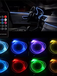cheap -1pcs RGB LED Strip Light Filler Gap Decoration Neon Interior Floor Lamp Flexible Tube with Remote Control 5m