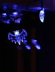 cheap -Halloween Bat String Lights 10 LED Blue for Halloween Decoration AA Batteries Powered 1pc 1.5m