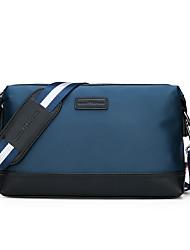 cheap -Men's Zipper Oxford Cloth Crossbody Bag Color Block Black / Blue